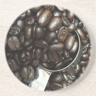 Roasted Coffee Beans Photograph Coaster