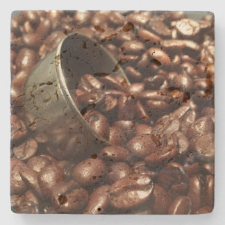 Roasted Coffee Beans Photograph Stone Coaster