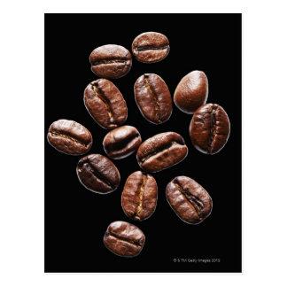 Roasted coffee beans postcard