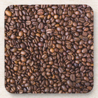 Roasted Coffee Beans Texture Structure Background Coaster
