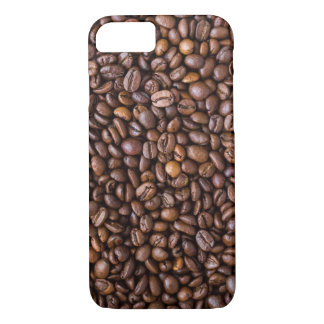 Roasted Coffee Beans Texture Structure Background iPhone 8/7 Case