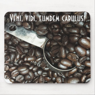 Roasted Coffee Beans With Silver Scoop Photograph Mouse Pad