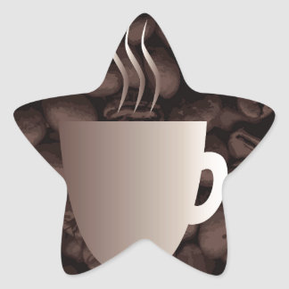 Roasted Coffee Cup Sign Star Sticker