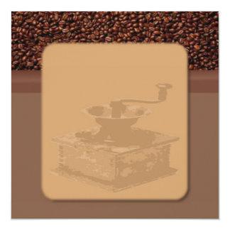"Roasted Coffee Invitation 5.25"" Square Invitation Card"