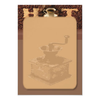 "Roasted Coffee Invitation 5"" X 7"" Invitation Card"