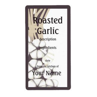 Roasted Garlic  Kitchen Label