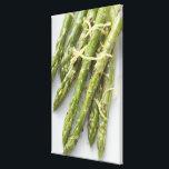 "Roasted green asparagus with lemon zest, canvas print<br><div class=""desc"">Asset ID: 90543947 / Foodcollection / Roasted green asparagus with lemon zest,  overhead view</div>"