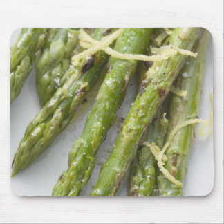 Roasted green asparagus with lemon zest, mouse pad
