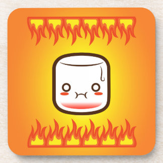 Roasted marshmallow. drink coasters