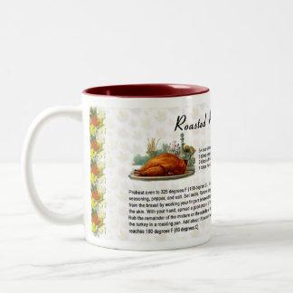 Roasted Rosemary Turkey Two-Tone Coffee Mug