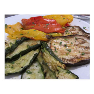 Roasted Vegetables Postcard