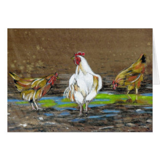 Roaster Ready Rooster and Friends Card