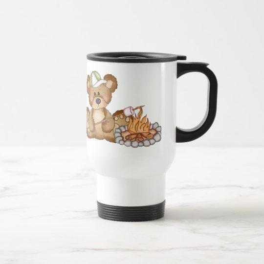 Roasting Marshmellows Bear Travel Mug