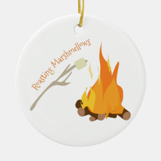 Roasting Marshmellows Ceramic Ornament