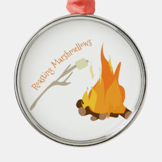 Roasting Marshmellows Metal Ornament
