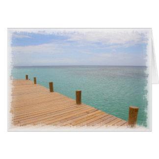 Roatan Beach Greeting Card