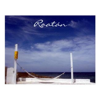 roatán hammock postcard