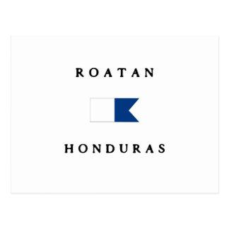 Roatan Honduras Alpha Dive Flag Postcard