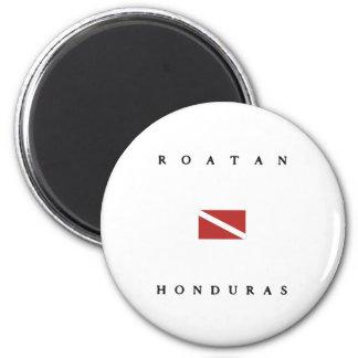 Roatan Honduras Scuba Dive Flag 2 Inch Round Magnet