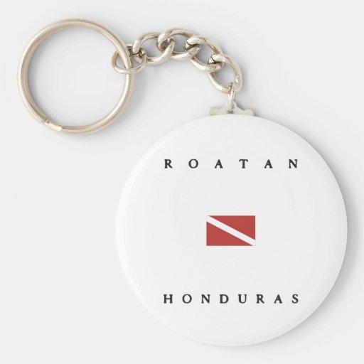 Roatan Honduras Scuba Dive Flag Key Chain