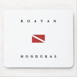 Roatan Honduras Scuba Dive Flag Mouse Pads