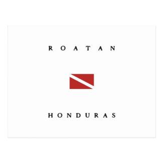 Roatan Honduras Scuba Dive Flag Postcard