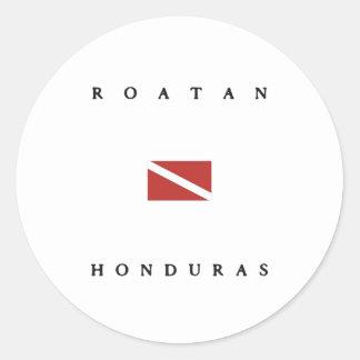 Roatan Honduras Scuba Dive Flag Stickers