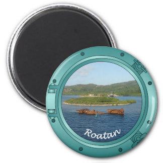 Roatan Porthole 2 Inch Round Magnet