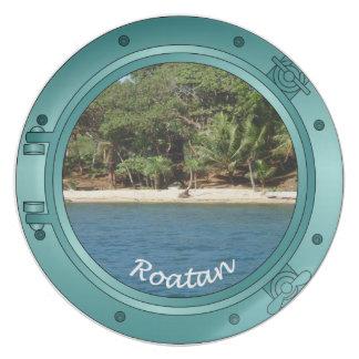 Roatan Porthole - Beach Dinner Plate