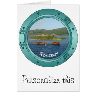 Roatan Porthole Greeting Card