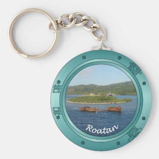 Roatan Porthole Key Chain
