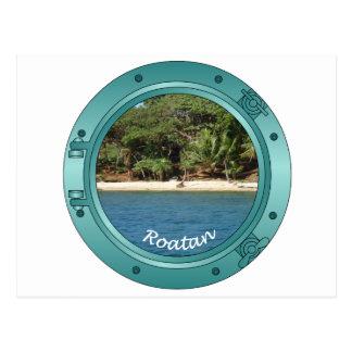 Roatan Porthole Postcard