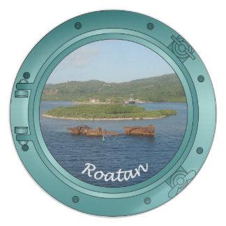 Roatan Porthole - Shipwreck Dinner Plates