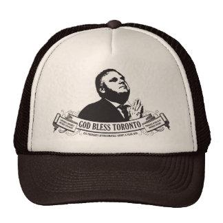Rob Ford - God bless Toronto vintage design Trucker Hat
