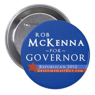 Rob grande McKenna para el botón del gobernador 20 Pin
