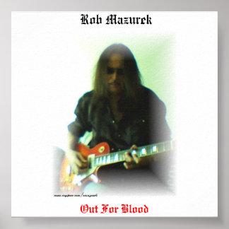 "Rob Mazurek - ""Out For Blood"" Poster"
