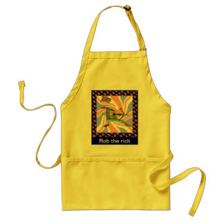 Rob the rich adult apron