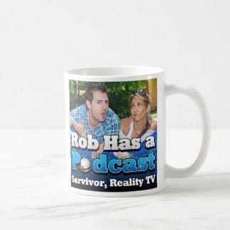 Rob tiene una taza de café del podcast