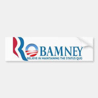 Robamney bumper sticker