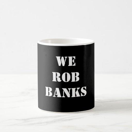 Robamos los bancos taza básica blanca