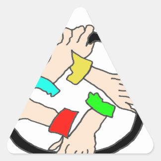 ROBANDO ZEN THE.png Pegatina Triangular