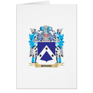 Robbe Coat of Arms - Family Crest Card