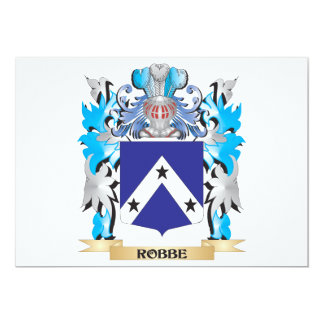 """Robbe Coat of Arms - Family Crest 5"""" X 7"""" Invitation Card"""