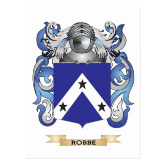 Robbe Coat of Arms (Family Crest) Postcard