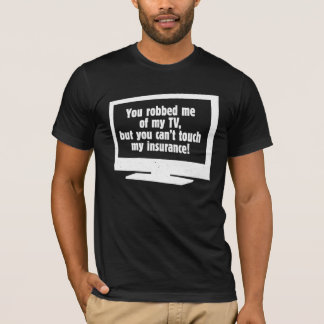 Robbed My TV Basic Dark American Apparel T-Shirt