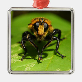 Robber Fly Metal Ornament