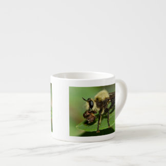 Robber Fly with Lunch Espresso Mugs