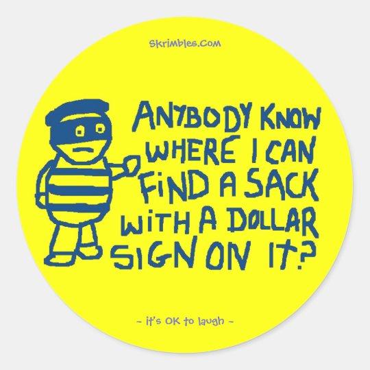 Robber Sticker
