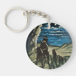 Robber with a Stolen Horse by Niko Pirosmani Key Chain