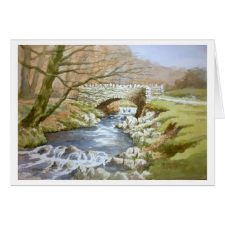 Robbers Bridge, Exmoor Greeting Card
